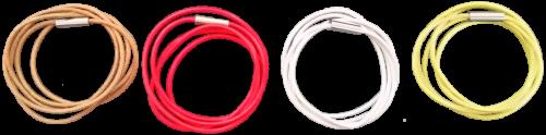 Lederbänder (in vielen Farben erhältlich)